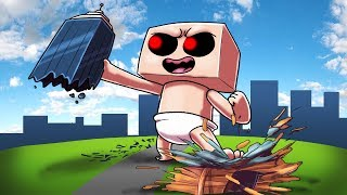 Minecraft | MUTANT BABY BASE CHALLENGE - Baby Destroys City! (Baby vs Base)