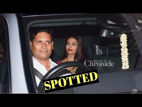 Aishwarya Rai  Spotted At Wedding Ceremony