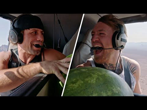 TUF Moments: Conor vs Urijah Coaches Challenge | Watermelon Toss