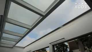 Agor Sliding Roof - גג זכוכית לבריכת שחייה הנפתח בלחיצת כפתור