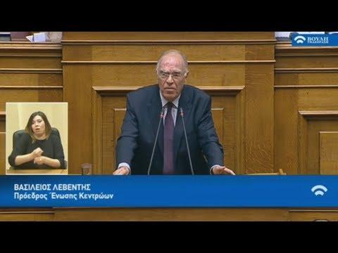 Απόσπασμα από την ομιλία  Β. Λεβέντη στην Ολομέλεια της Βουλής  για την Αναθεώρηση του Συντάγματος