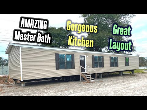 GORGEOUS LUXURY Single Wide Mobile Home 16x76 By Clayton Homes