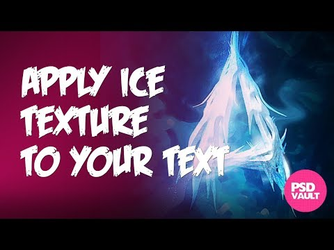 Apply Ice Texture to form a Frozen Text Effect in Photoshop.