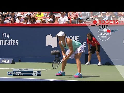 Before Ash Barty and Kiki Bertens became top tier players in 2019 we saw flashes of their potential in the quarter-finals of Rogers Cup 2018. Video provided ...