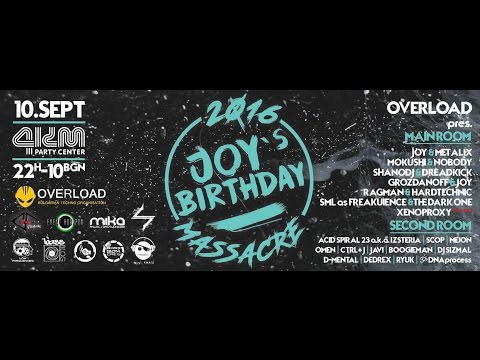 10.09.2016 Shano DJ & Dreadkick @ OVERLOAD Pres. JOY'S B-DAY MASSACRE Pt37