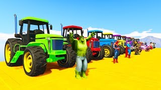Video COLORED TRACTOR and Superheroes Learning Colors cartoon for kids and babies MP3, 3GP, MP4, WEBM, AVI, FLV Juni 2018