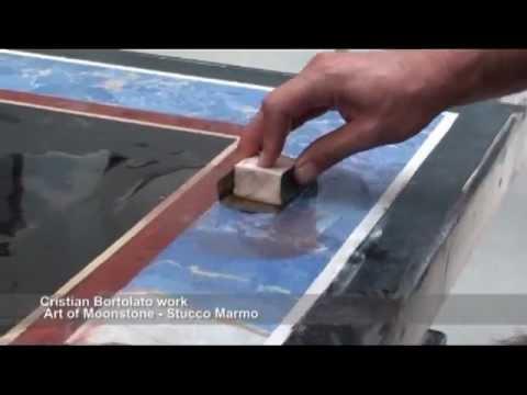 Art of Moonstone (Stucco marmo) - Plan for antique table - Cristian Bortolato