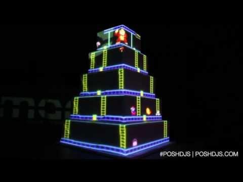 Donkey Kong Projector Cake
