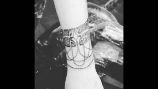 Tatouage Bracelet Maori Perles Prénoms