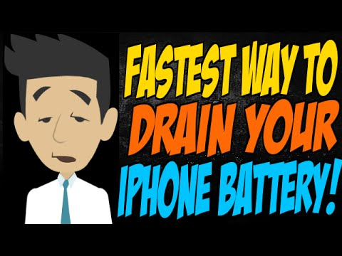 how to drain a iphone battery