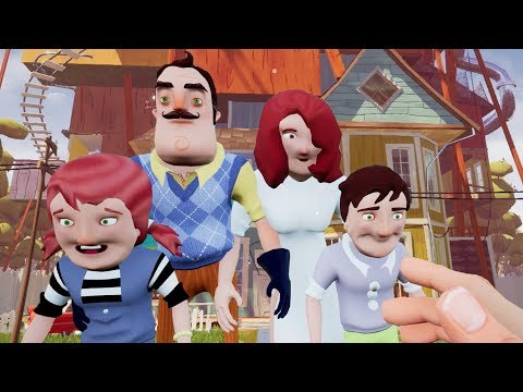 MEETING THE NEIGHBOR'S FAMILY?! | Hello Neighbor (видео)