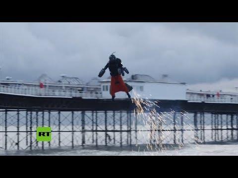 «Железный человек» из Великобритании установил рекорд скорости полета
