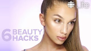 6 BEAUTY HACKS For a Flawless Face | Julia Dantas | CBC Life