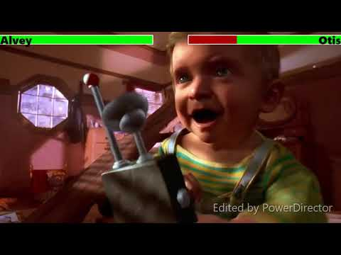 Son of the Mask (2005) Operation Bye Bye Baby Scene with healthbars