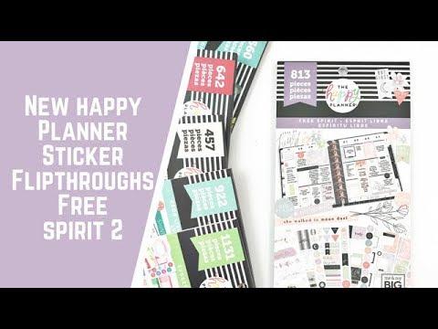 Happy quotes - Free Spirit- NEW HAPPY PLANNER STICKER FLIPTHROUGHS