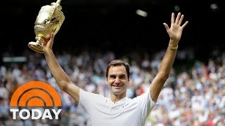 On the heels of making sports history with a record eighth Wimbledon titled, Roger Federer joins TODAY live from London. He describes the emotional moment ...