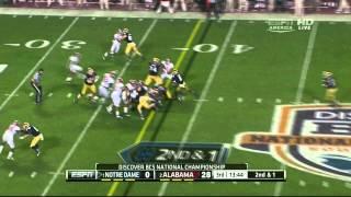Tyler Eifert vs Alabama (2012 Bowl)