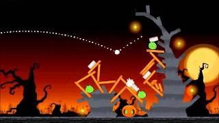 Angry Birds Seasons Walkthrough Trick or Treat 3-9