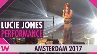 The United Kingdom's Eurovision 2017 artist Lucie Jones sings