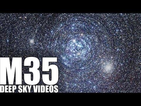 Bewegung der Sternen (M35) -  Videos des weiten Himmels