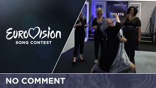 No Comment: Third day behind the scenes of the Eurovision Song...