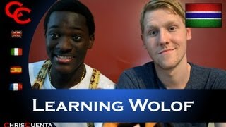 Sam teaches me some Wolof - a language from West Africa! It's different, that's for sure. I'd never spoken a word of this language before and only heard about it ...