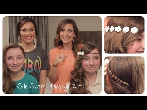 Side Swept 2-in-1 Look with Kandee Johnson | Cute Girls Hairstyles