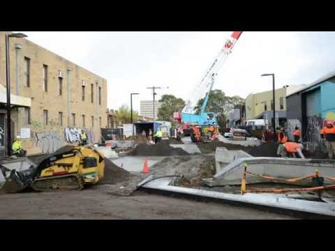 Wilson Avenue bouldering wall installation