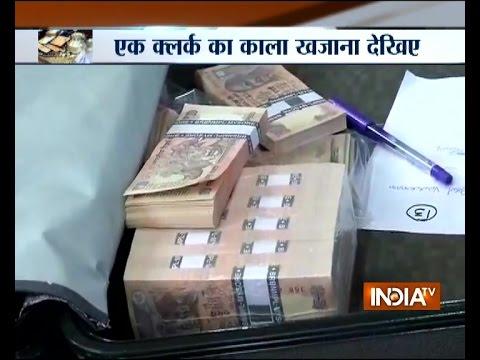 Around Rs 3 crore black money, flats, etc sized from a clerk of Hyderabad Nagar Nigam