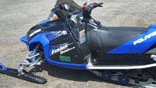 10. 2006 Polaris Fusion 600 H.O. Liberty Snowmobile; Twin-Cylinder, Liquid-Cooled, 2,153 Miles
