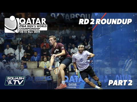 Squash: PSA Men's World Champs 2019-20 - Rd 2 Roundup [Pt.2]