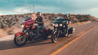 7. Harley Street Glide Special & Indian Chieftain Dark Horse: Chasing the Eclipse | ON TWO WHEELS