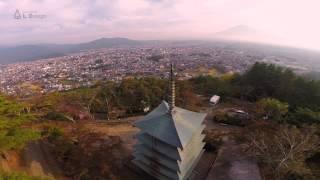 五重塔 富士山浅間公園 を空撮
