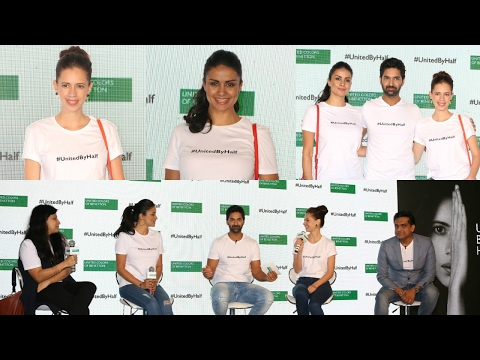 Kalki Koechlin And Gul Panag At The Launch Of #UnitedByHalf Campaign (UnCut - Part 1)