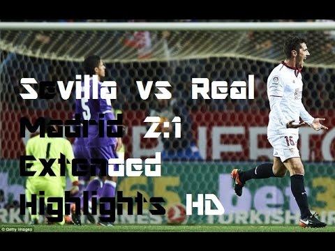 Sevilla vs Real Madrid 2:1 ~ Extended Highlights HD  ~ January 2017