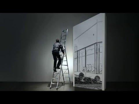 Günzburger Mehrzweckleiter mit Nivello® Traverse 3x11 Sprossen-youtube_img