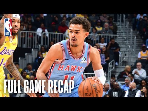 Video: LAKERS vs HAWKS | Trae Young & LeBron Duel In Atlanta | February 12, 2019