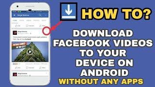 Video How to Download Facebook videos to Gallery on Android / without any Software or Apps MP3, 3GP, MP4, WEBM, AVI, FLV Desember 2018