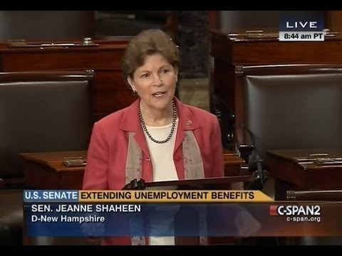 Shaheen Calls for Extension of Unemployment Insurance