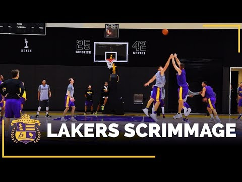 Video: Lakers 5-On-5 Practice Scrimmage Footage: Kyle Kuzma, Brook Lopez, Larry Nance Jr.