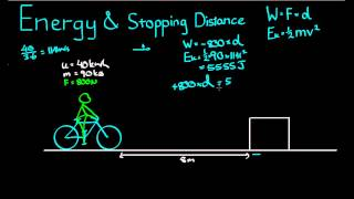 See more videos at:http://talkboard.com.au/In this video, we look at how to use work and kinetic energy to calculate the stopping distance required by a moving object.