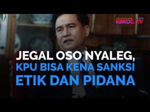 Jegal OSO Nyaleg, KPU Bisa Kena Sanksi Etik Dan Pidana
