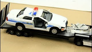 Police Chase to the Criminals and Crashed. Toy Cars Video For Kids.