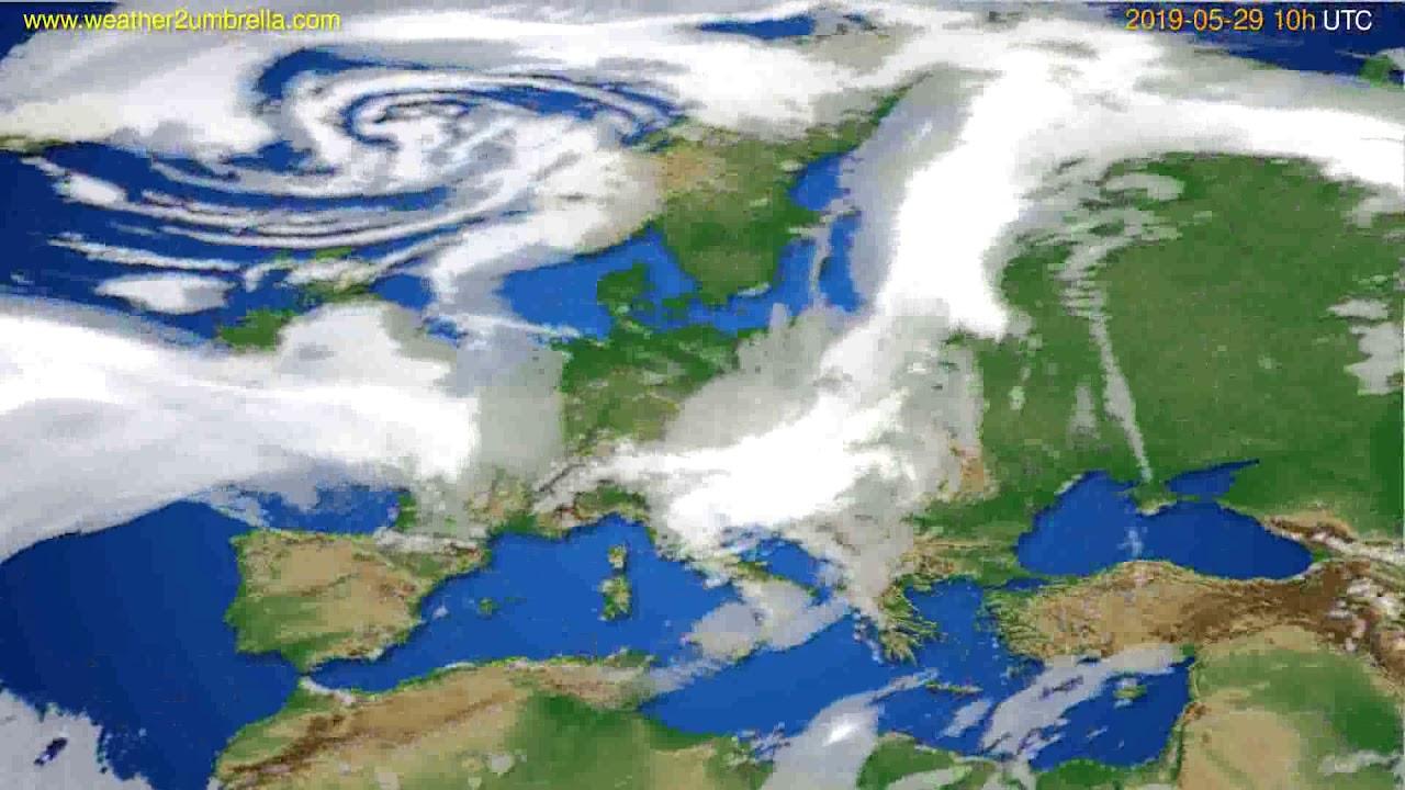 Cloud forecast Europe // modelrun: 12h UTC 2019-05-26