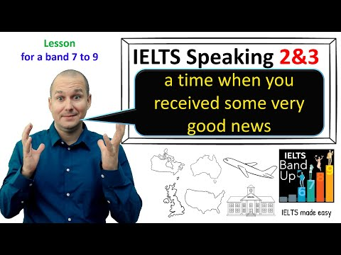 IELTS Speaking Part 2 & 3 Lesson ~ a time when you received some very good news