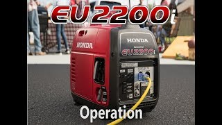 1. Honda EU2200i Generator Operation