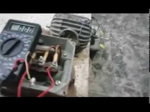Асинхронник 7 5 кВт переделка в генератор на магнитах 380 220 12 вольт