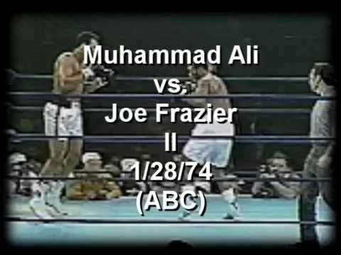 Joe Frazier -vs- Muhammad Ali II 1/28/74  (abc) part 1