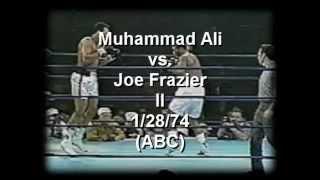Joe Frazier -vs- Muhammad Ali II 1/28/74  Part 1