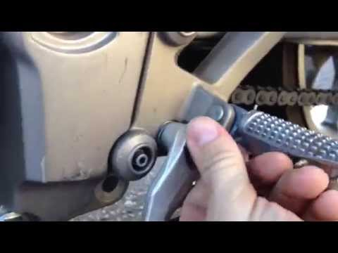Aprilia gear shifter mounting and setting